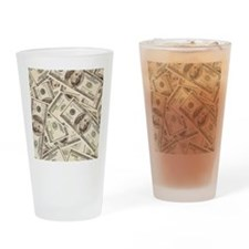 Dollar Bills Drinking Glass