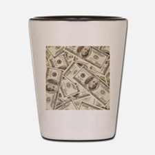 Dollar Bills Shot Glass