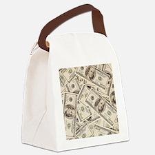 Dollar Bills Canvas Lunch Bag