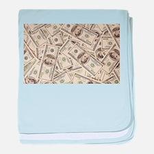 Dollar Bills baby blanket