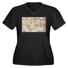 Dollar Bills Plus Size T-Shirt
