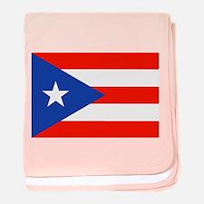 Boricua Bandera Puerto Rican Orgullo baby blanket