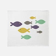 School of Fish Throw Blanket