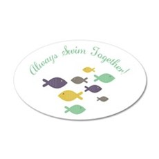 Always swim together Wall Decal