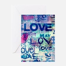 Abstract Love Painting Greeting Cards