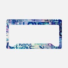 Abstract Love Painting License Plate Holder