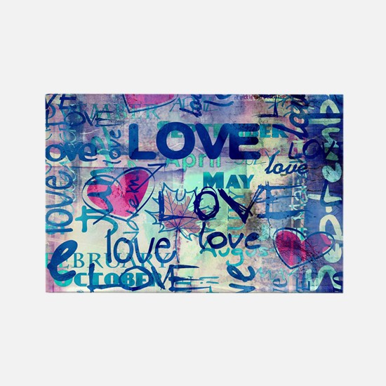 Abstract Love Painting Magnets