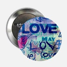"Abstract Love Painting 2.25"" Button (100 pack)"