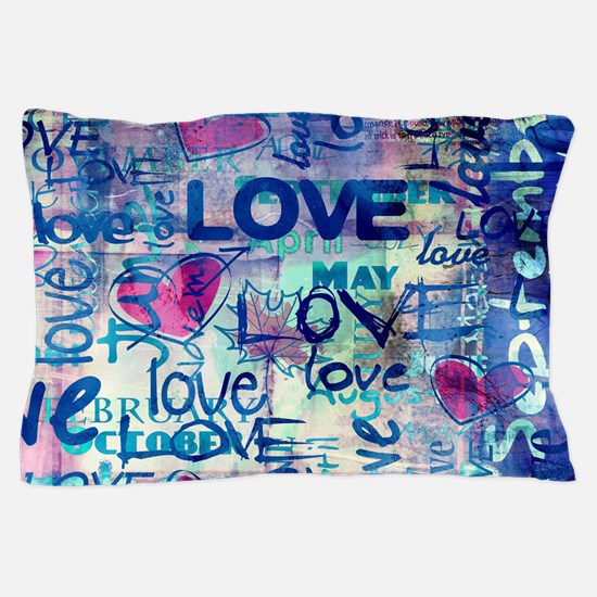Abstract Love Painting Pillow Case