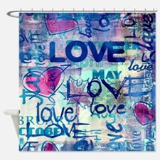 Abstract Love Painting Shower Curtain