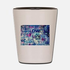 Abstract Love Painting Shot Glass