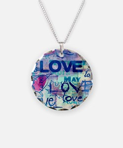 Abstract Love Painting Necklace
