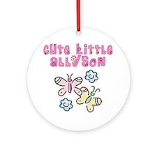 Cute Little Allyson Ornament (Round)