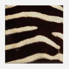 Zebra Fur Tile Coaster