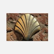Gold El Camino shell sign, paveme Rectangle Magnet