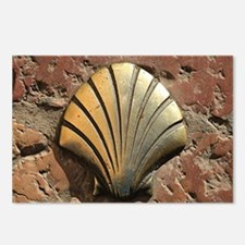 Gold El Camino shell sign Postcards (Package of 8)