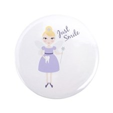 "Just Smile 3.5"" Button (100 pack)"