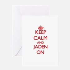 Keep Calm and Jaden ON Greeting Cards