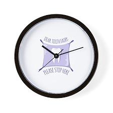 Dear Tooth Fairy Wall Clock