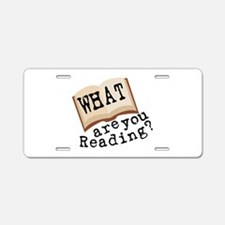 What Are You Reading? Aluminum License Plate