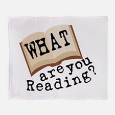 What Are You Reading? Throw Blanket