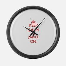 Keep Calm and Jairo ON Large Wall Clock