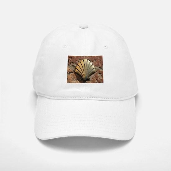 Gold El Camino shell sign, pavement, Leon, Spa Baseball Baseball Cap
