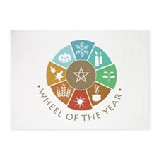 Wheel Of The Year 5'x7'Area Rug