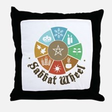 Sabbat Wheel Throw Pillow