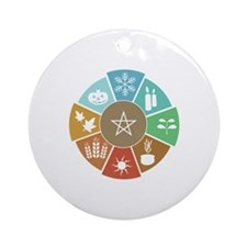 Wheel Of The Year Ornament (Round)