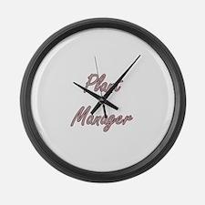 Plant Manager Artistic Job Design Large Wall Clock