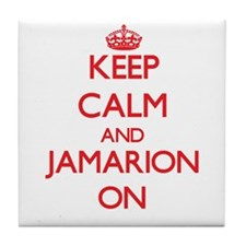 Keep Calm and Jamarion ON Tile Coaster