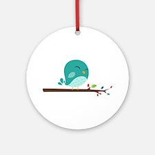 Blue Bird Ornament (Round)