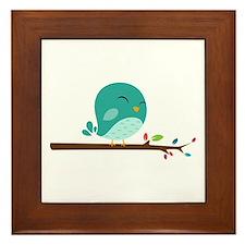Blue Bird Framed Tile