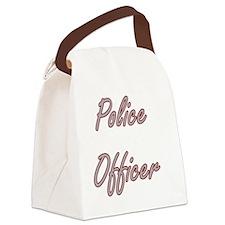 Police Officer Artistic Job Desig Canvas Lunch Bag