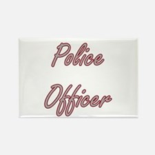 Police Officer Artistic Job Design Magnets