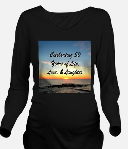 INSPIRATIONAL 50TH Long Sleeve Maternity T-Shirt