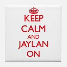 Keep Calm and Jaylan ON Tile Coaster