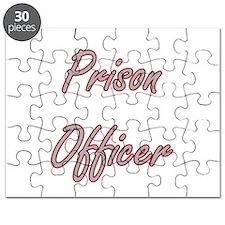 Prison Officer Artistic Job Design Puzzle