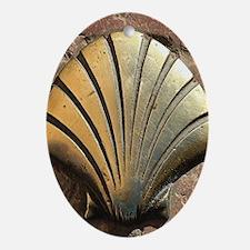 Gold El Camino shell sign, pavemen Ornament (Oval)
