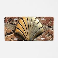 Gold El Camino shell sign, Aluminum License Plate