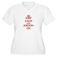 Keep Calm and Jordon ON Plus Size T-Shirt