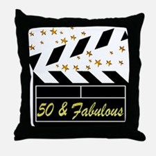 GLAMOROUS 50TH Throw Pillow