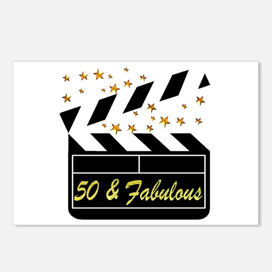 GLAMOROUS 50TH Postcards (Package of 8)
