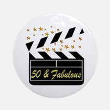 GLAMOROUS 50TH Ornament (Round)