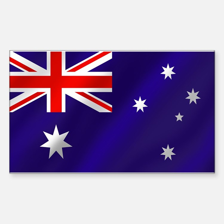 Flag of Australia Sticker (Rectangle)