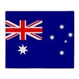 Australian flag Fleece Blankets