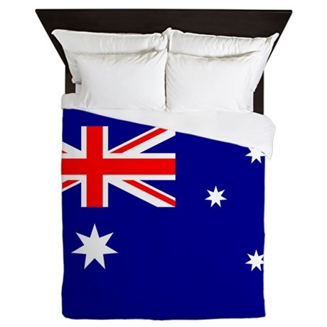 Flag Of Australia Queen Duvet By Worldsoccerstoreasia