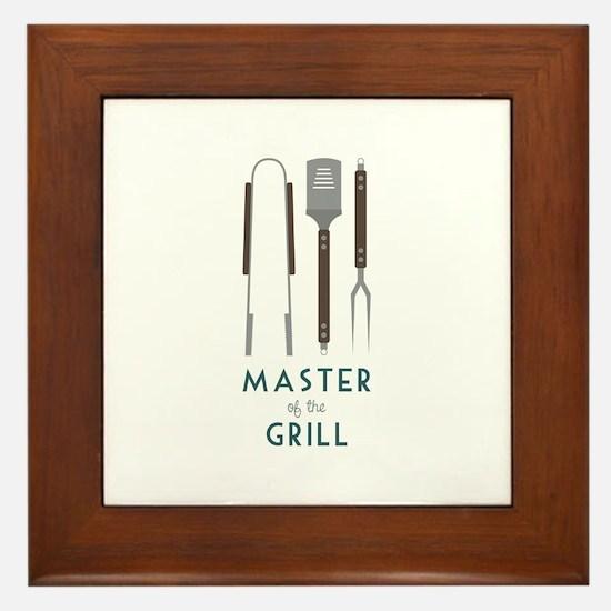 Master Of the Grill Framed Tile