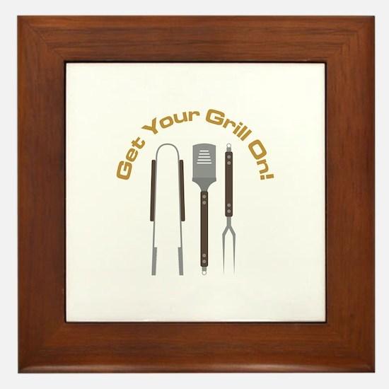 Get Your Grill ON! Framed Tile